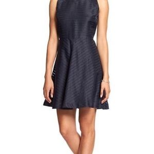 Banana Republic Navy fit and flare dress Size 2p